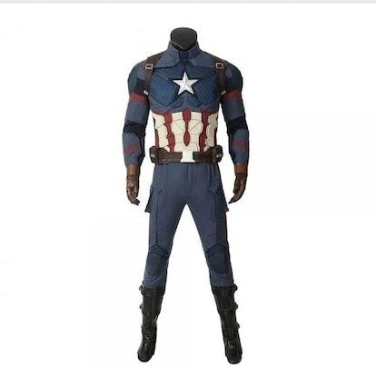 Captain America Suit Cosplay Costume Steve Rogers Avengers Endgame