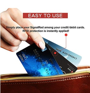 Signal Red Credit Card Protector