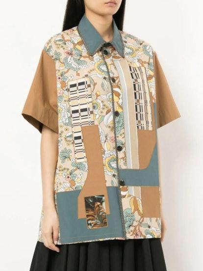 Patchwork Short-Sleeve Shirt