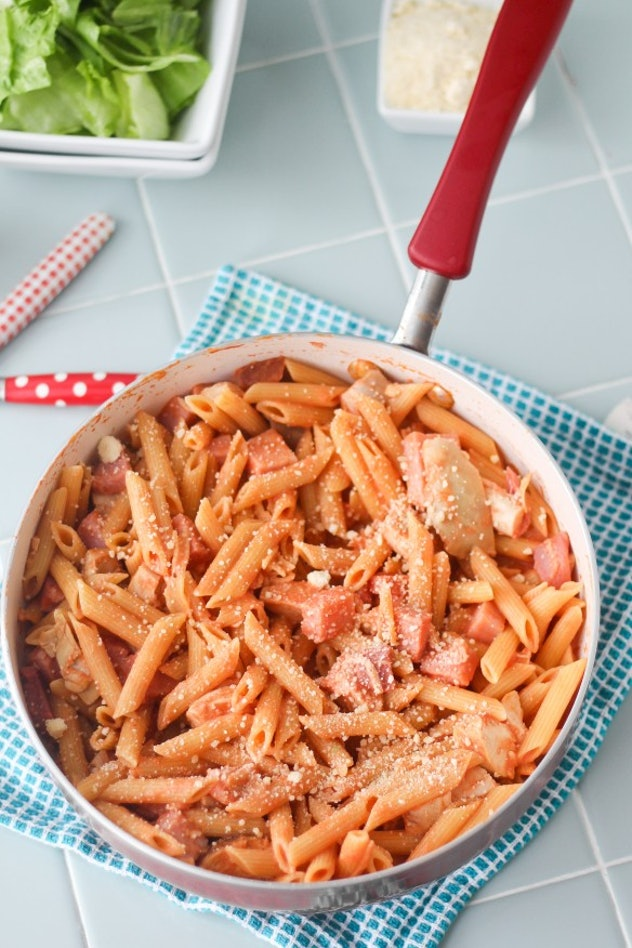 one pot ham and chicken penne