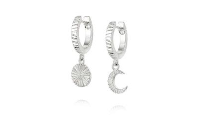 Estee LaLonde Luna Huggie Charm Earrings