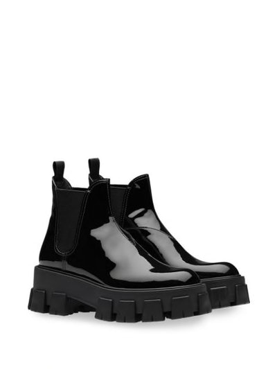 Moonlight Patent Leather Booties