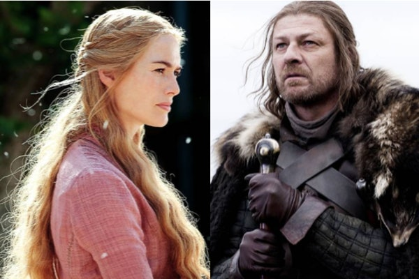 Cersei and Ned Stark side by side