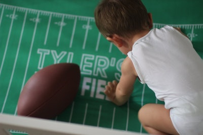 Personalized Football Crib Sheet
