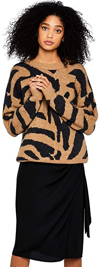 Women's Drop Shoulder Tiger sweater