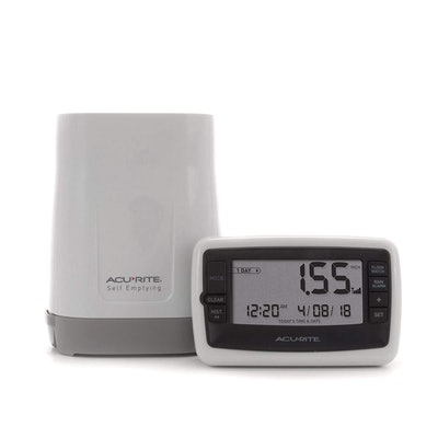 AcuRite Wireless Rain Gauge With Self-Emptying Collector