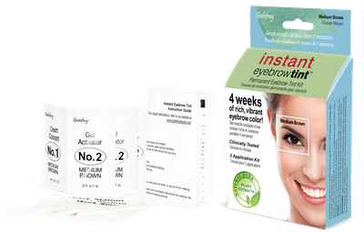 Godefroy Instant Eyebrow Tint, 3 application kit, Medium Brown