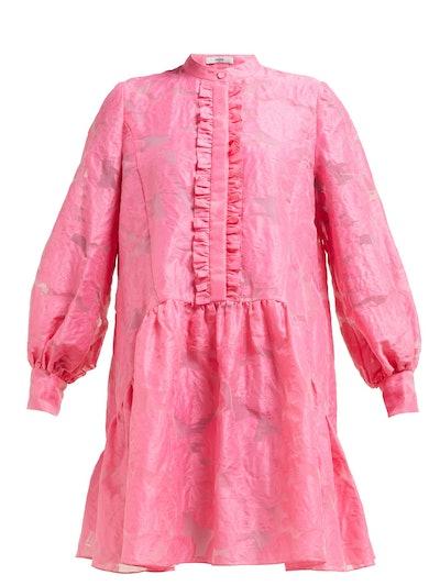 Quentin Fil-Coupé Silk Dress