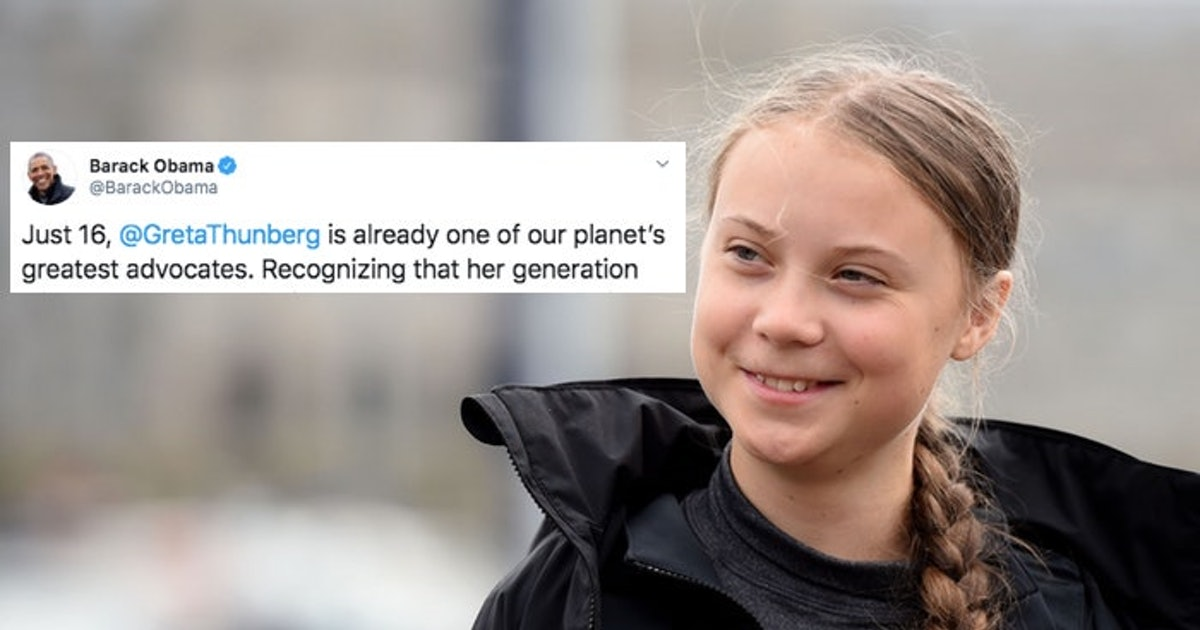 """Obama Praises Greta Thunberg's Climate Activism After Their Iconic Meeting: """"She's Unafraid"""""""