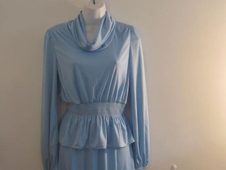Vintage Skirt and cowl Neck Top Ladies Outfit from Montgomery Ward