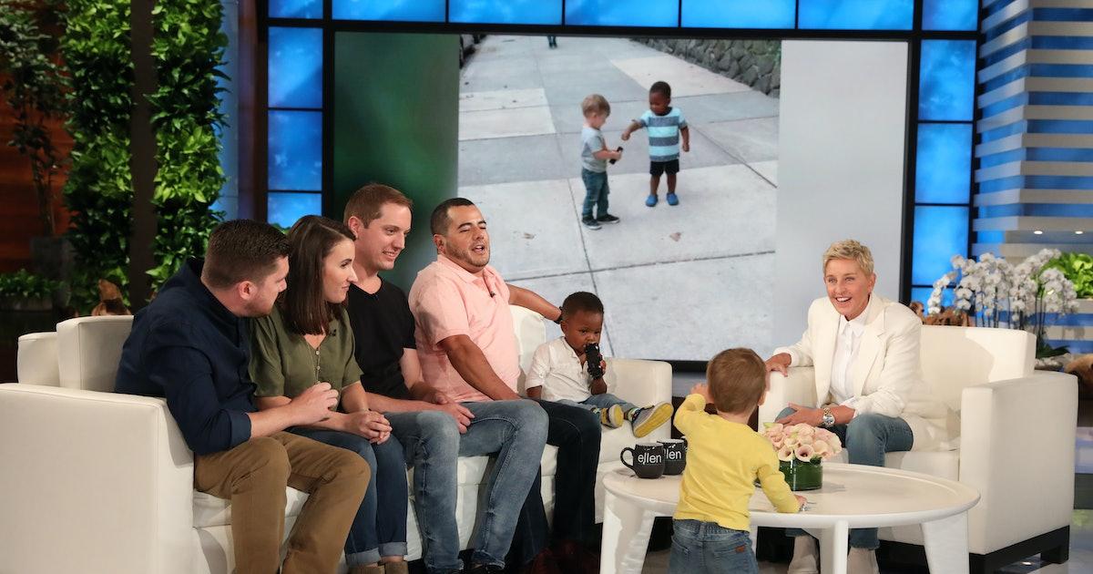 Viral Hugging Toddlers Met Ellen DeGeneres & Oh Boy, They're Even Cuter