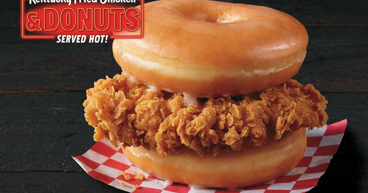 KFC's Fried Chicken & Donuts Sandwich Is A Sweet Twist On The Classic