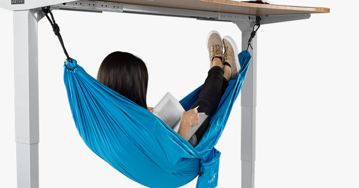 Uplift's Desk Hammock Is Here To Take Your Afternoon Naps To The New Heights