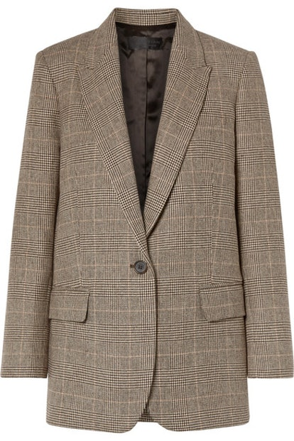 Diane Prince Of Wales Checked Wool-Blend Blazer