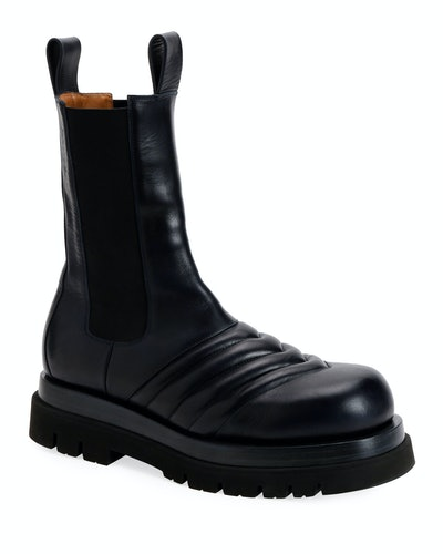 Flat Chelsea Combat Boots