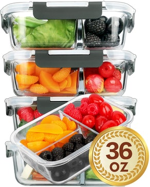Glass Meal Prep Containers (5-Pack)