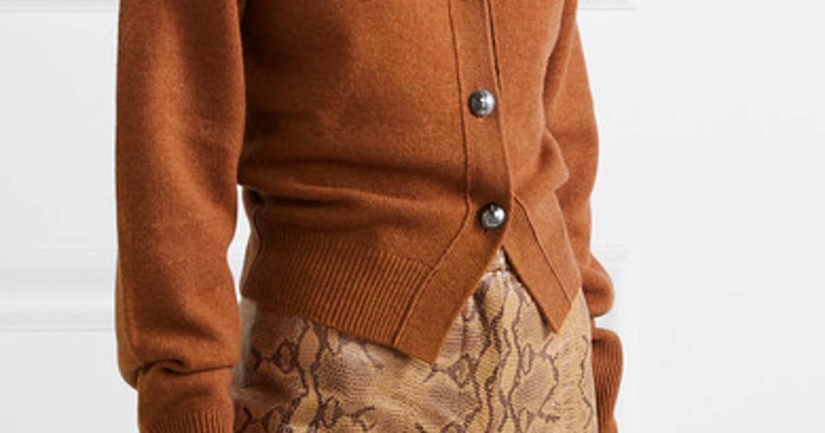 Kaia Gerber's Purple Cardigan Is The Hero Piece Your Fall Wardrobe Needs