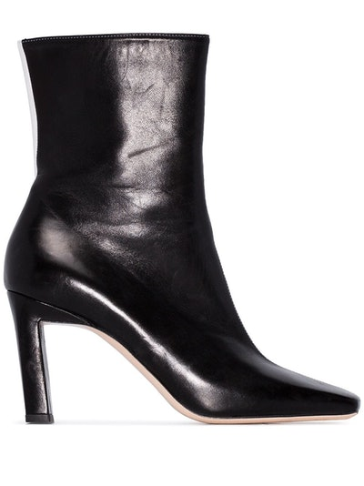 Isa 85mm Two-Tone Ankle Boots