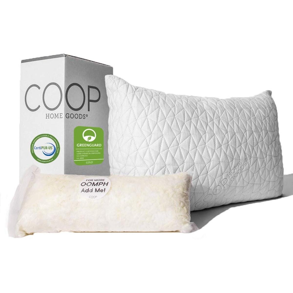 Coop Home Goods Queen Premium Adjustable Loft Pillow