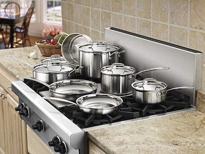 Cuisinart Stainless Steel Cookware Set (12 Pieces)