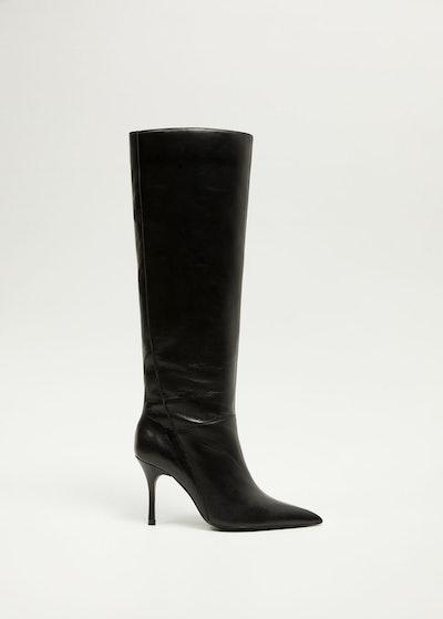 Heel Leather Boot