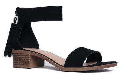J. Adams Midori Low-Ankle Strap Heels