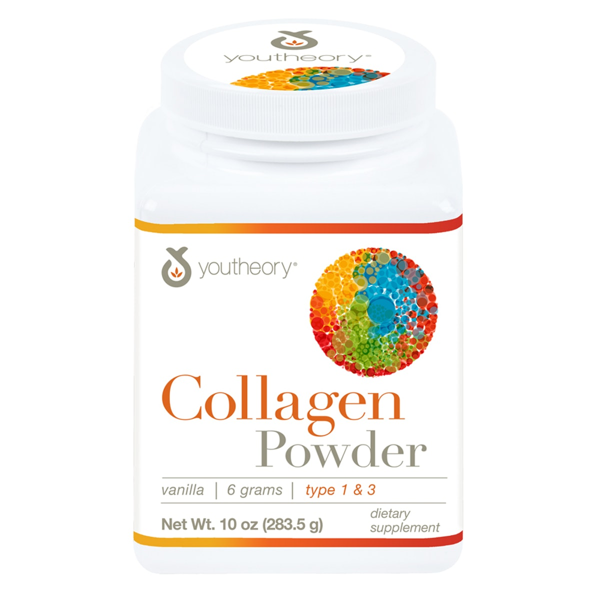 Youtheory Collagen Powder with Biotin and Vitamin C, 10 oz