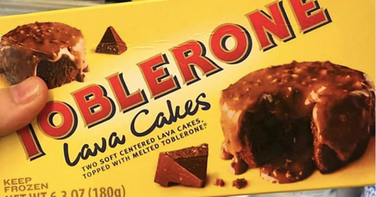 Toblerone Lava Cakes Come Topped With Melted Toblerone Chocolate