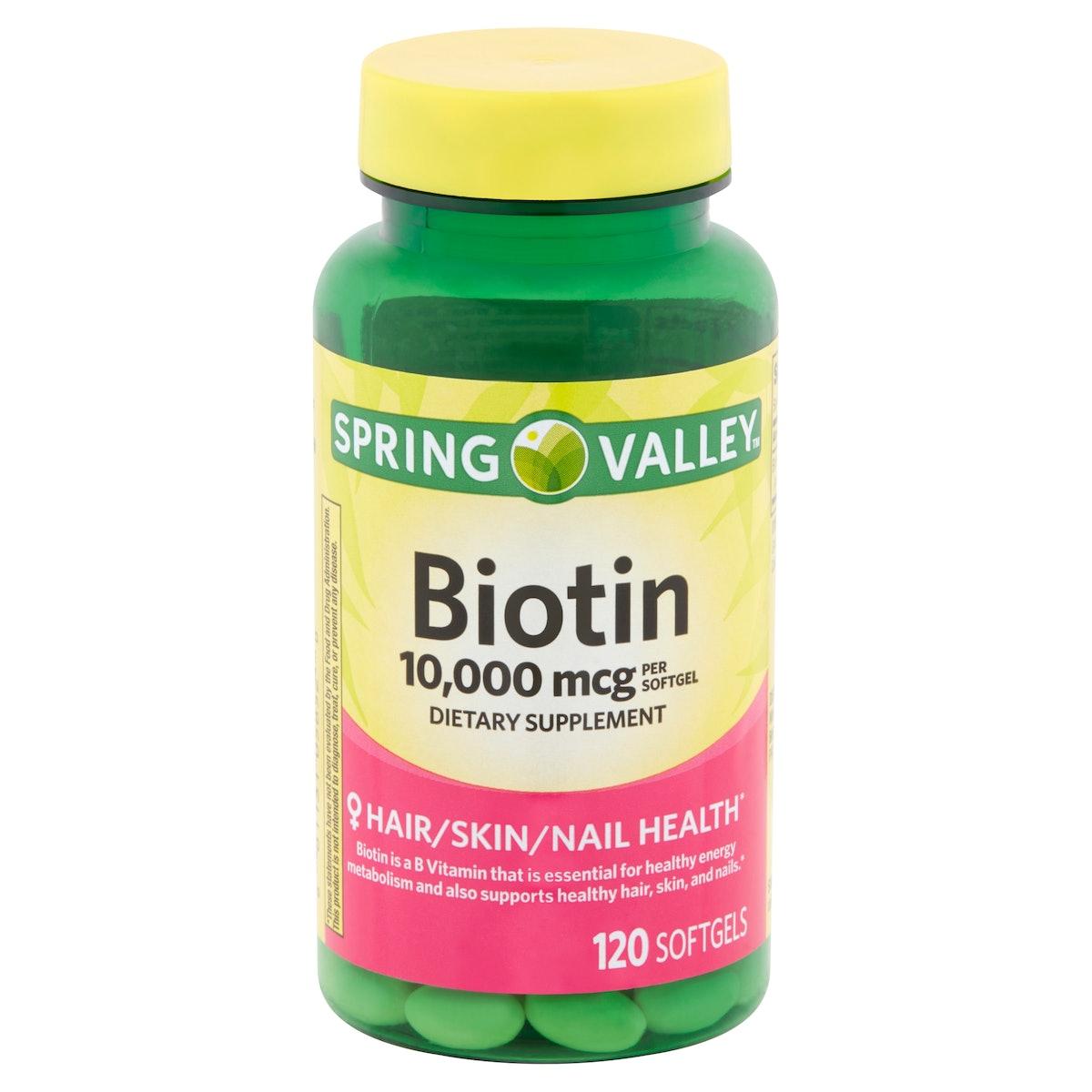 Spring Valley Biotin Softgels, 10,000 mcg, 120 count