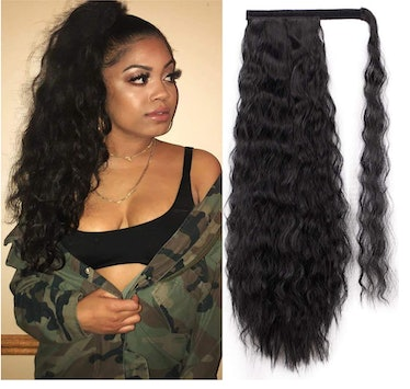 22 Inch Long Corn Wave Ponytail Extension