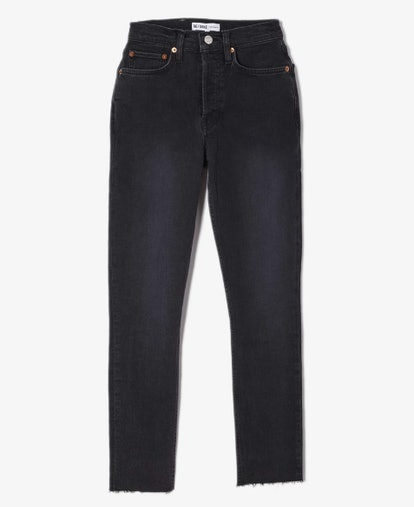 High Rise Stretch Ankle Crop Jean