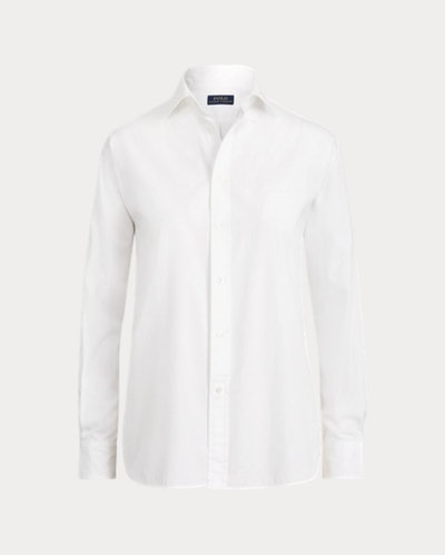 Pleated-Bib Broadcloth Shirt
