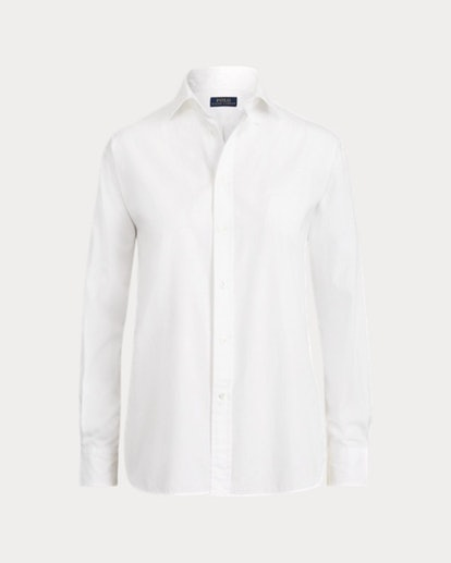 Pleated-Bib Broadcloth Shirt