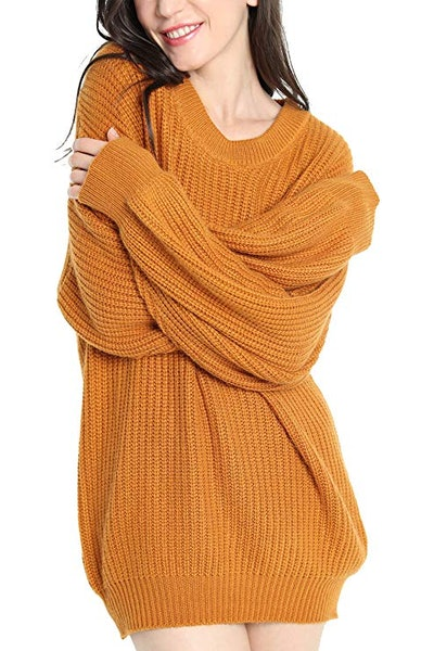 Women's Cashmere Oversized Loose Knitted Crew Neck
