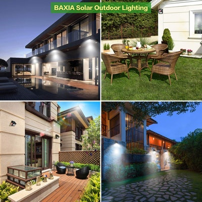 BAXIA TECHNOLOGY Outdoor Motion Sensor Lights (4-Pack)