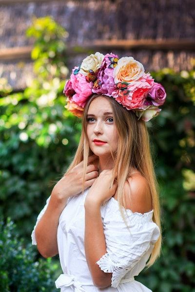 Large Floral Headdress