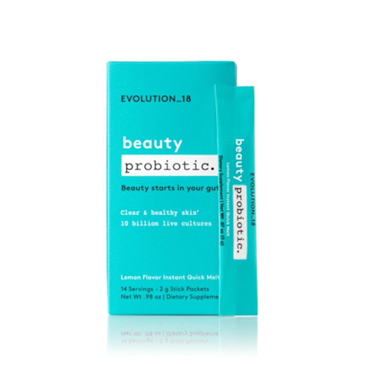 EVOLUTION_18 Probiotic Beauty Blend Quick Melt, Lemon, 14 Servings