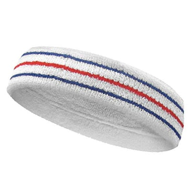 COUVER Tennis Style Premium Quality Athletic Terry Head Sweatband