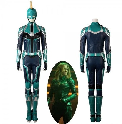 Captain Marvel Suit Cosplay Costume Carol Danvers Green Version 1