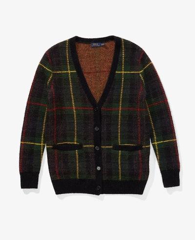 Wool Plaid Cardigan