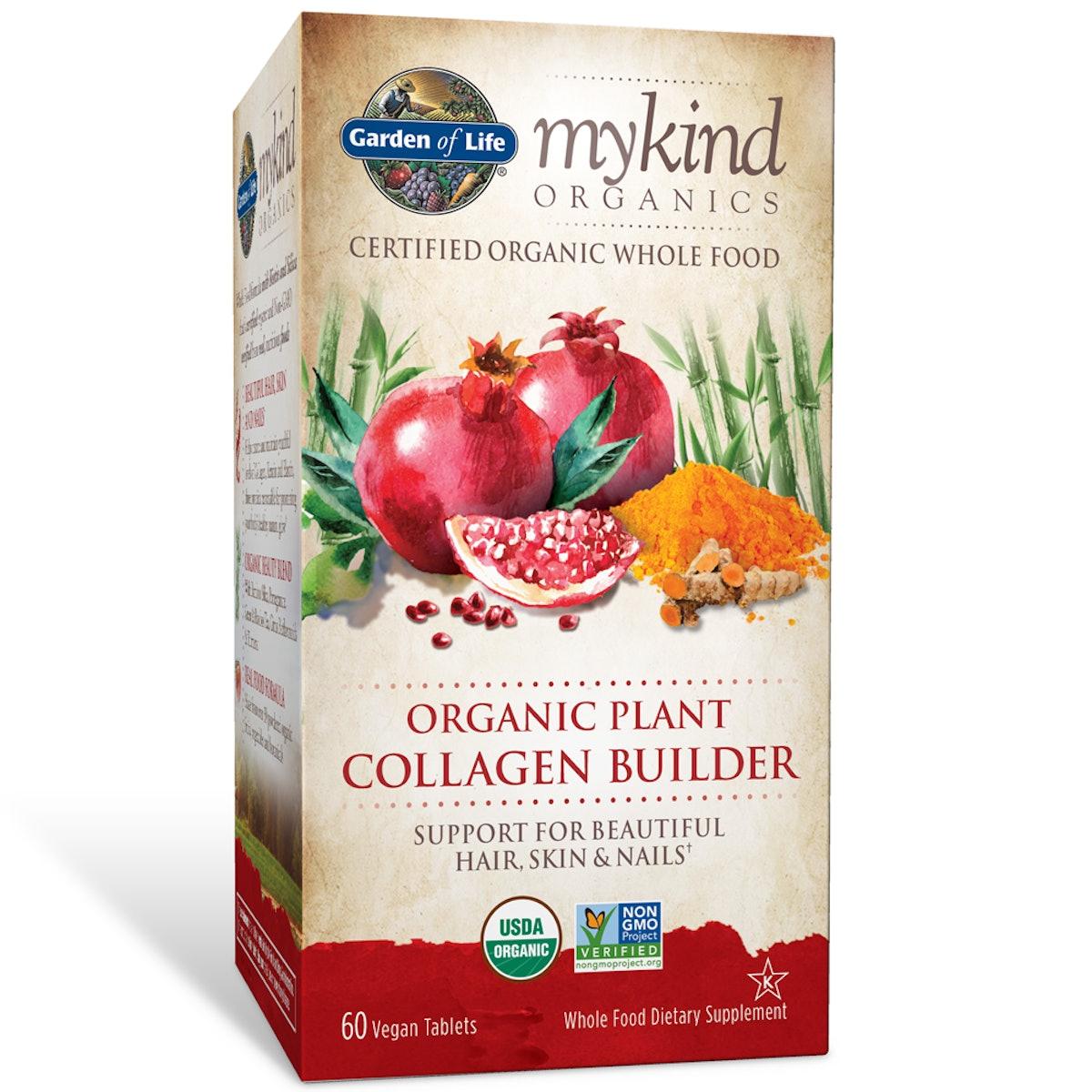 Garden of Life mykind Organics Organic Plant Collagen Builder 60 Tablets