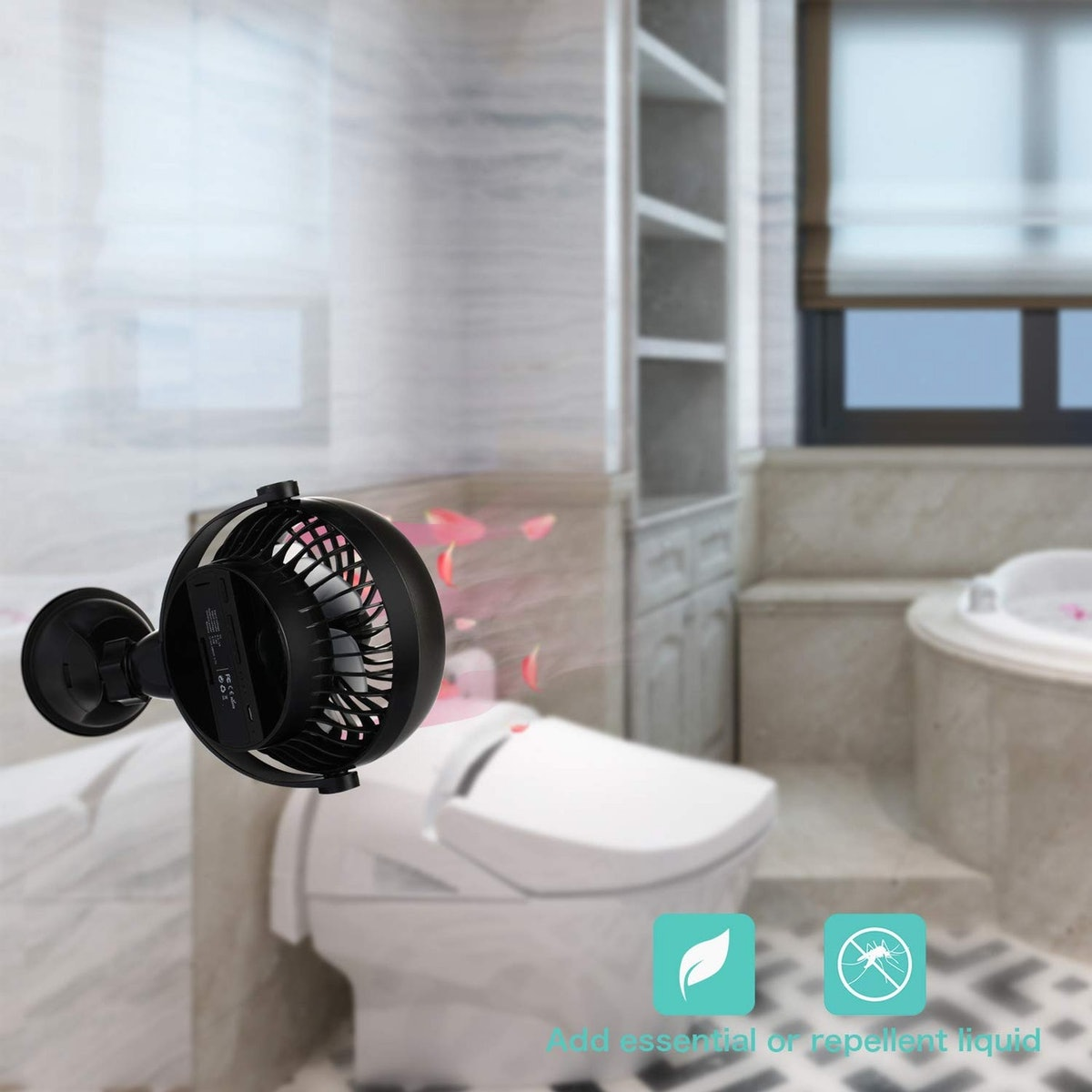 COMLIFE Battery-Operated Suction Cup Fan