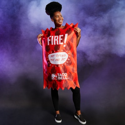 Taco Bell Fire Sauce Packet Tunic