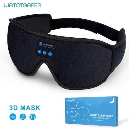 LIGHTTIMETUNNEL Bluetooth Sleep Mask Headphones