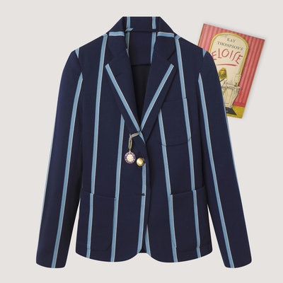 Women's Navy Stripe Blazer