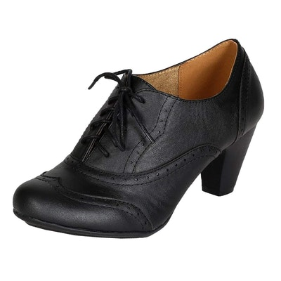 Refresh Leatherette Lace-Up Oxford Bootie
