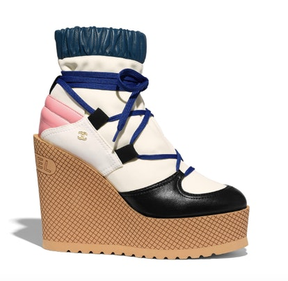 Lace-Ups In Ivory, Rose, Blue, And Black