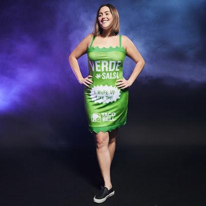 Taco Bell Verde Salsa Sauce Packet Dress