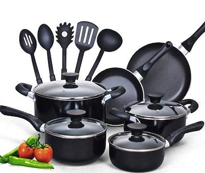 Cook N Home Nonstick Cookware Set (15 Pieces)
