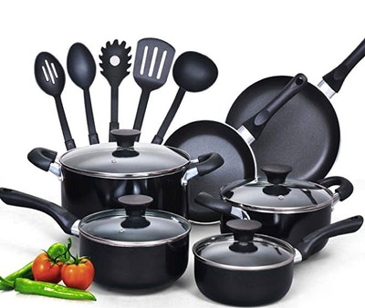 Cook N Home Nonstick Cookware Set (15 Pieces)